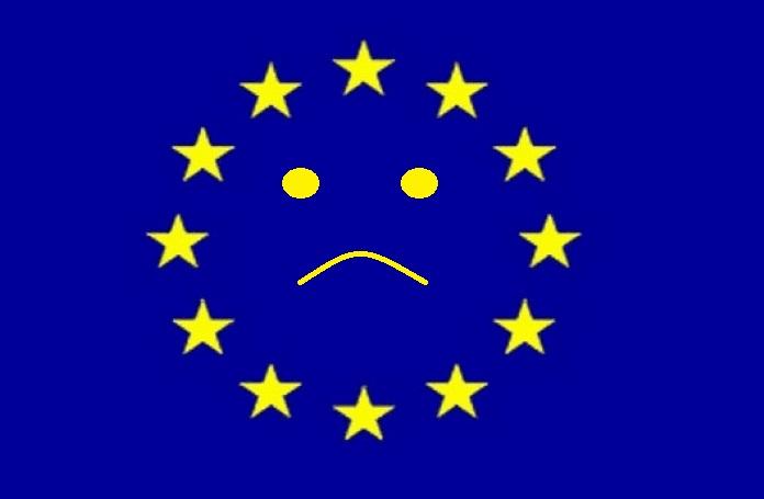 EU Flag. Feeling sad.